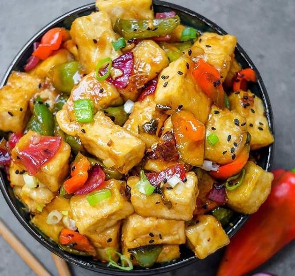 Receita de tofu glaceado