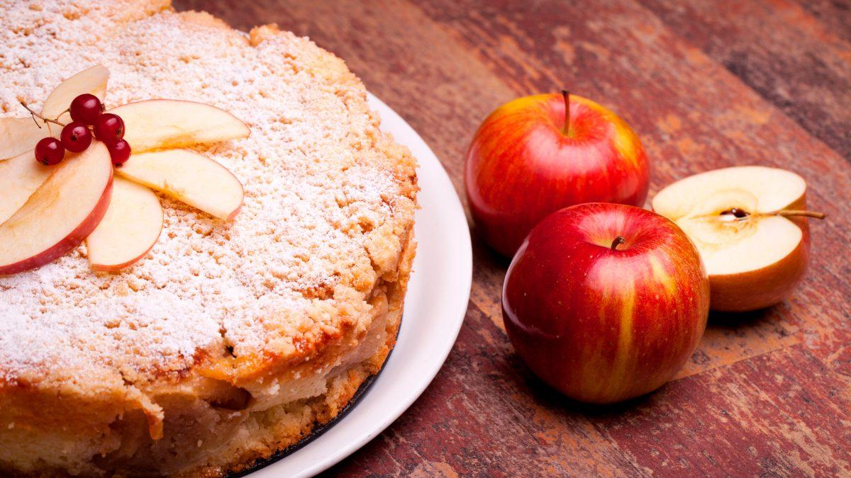Bolo de maçã low carb